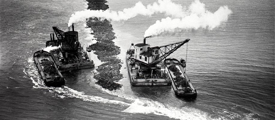 Historie 1932 - stroming in westelijk sluitgat de Vlieter