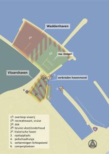 Waddenpoort Den Oever_tekening havens
