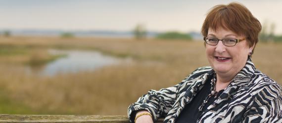 Gedeputeerde provincie Fryslân Tineke Schokker, voorzitter regionale stuurgroep De Nieuwe Afsluitdijk (DNA)