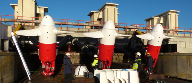 Stromingsenergie - installatie turbines