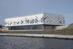 Blik op het Afsluitdijk Wadden Center