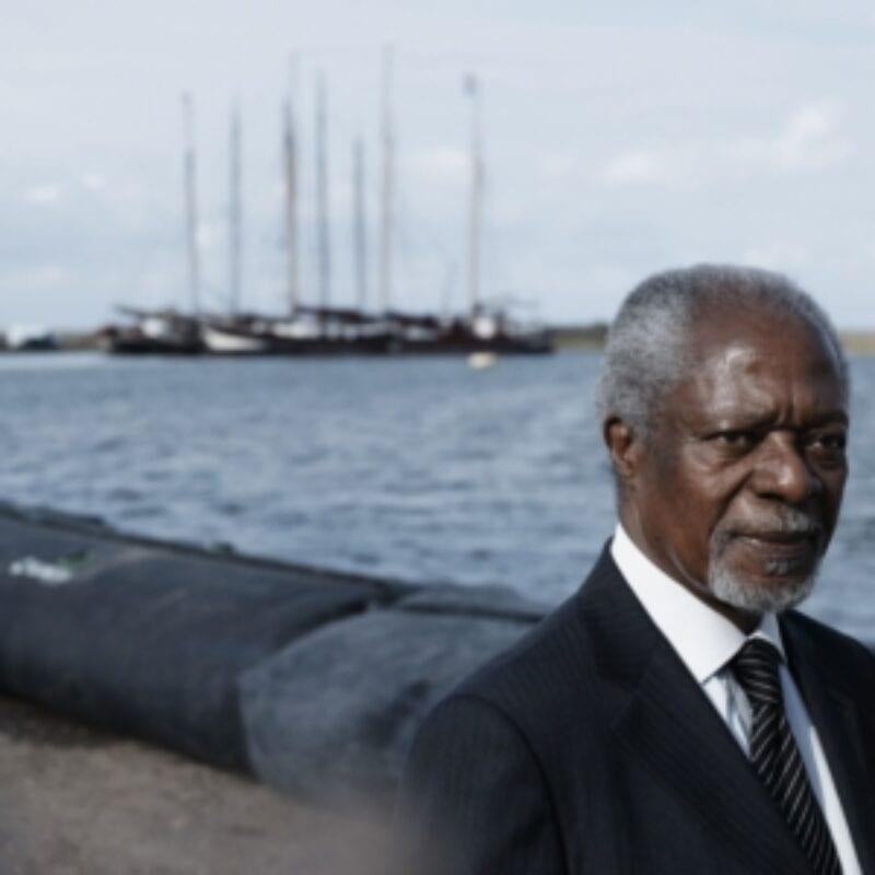 VN-voorzitter Kofi Annan was op 7 september bij het event Making Waves om te vertellen over de innovaties binnen de domeinen water, energie, klimaat, voedsel, gezondheid en veiligheid.