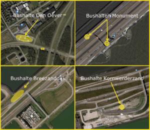 locaties fietsbushaltes - klik om te vergroten