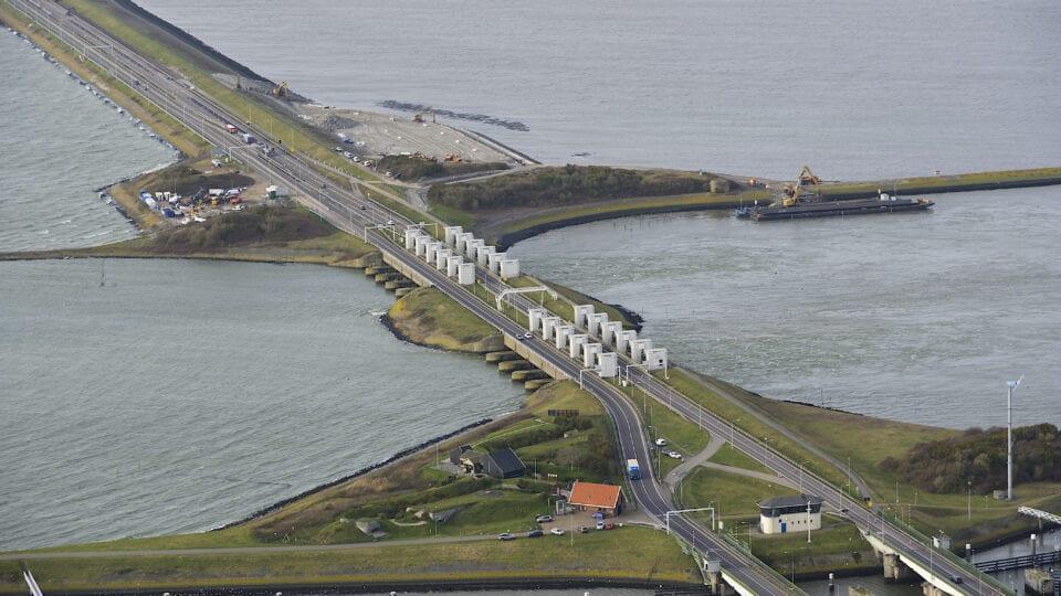 Afsluitdijk luchtfoto