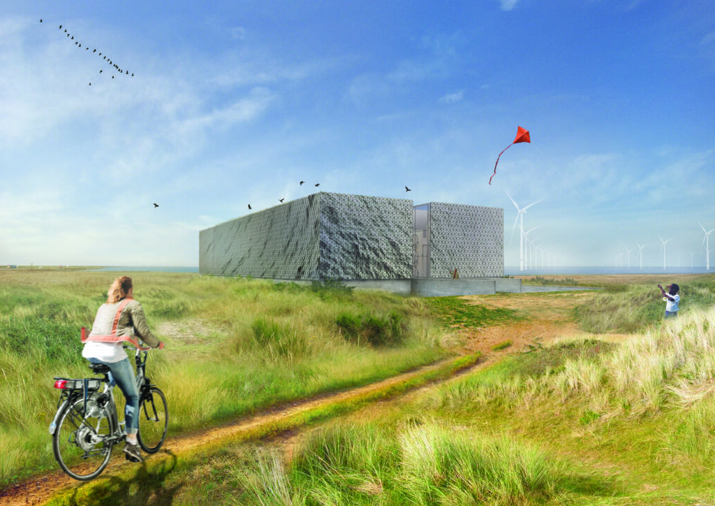 impressie Trafostation door Olivier + Partners Architecten