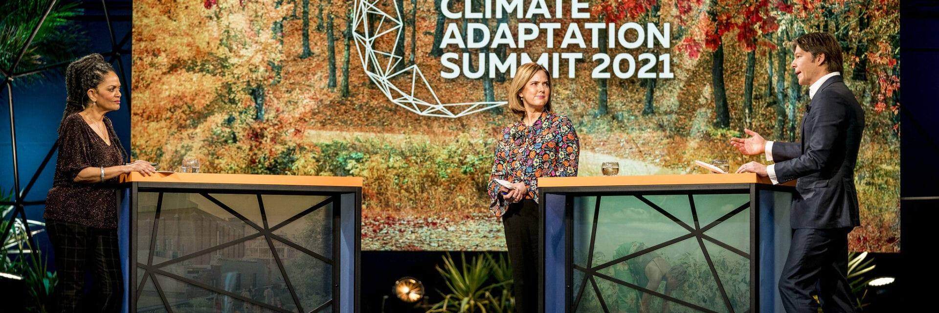 Minister Cora van Nieuwenhuizen op de Climate Adaptation Summit 2021
