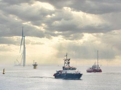 Sfeerimpressie van het Windpark in het IJsselmeer