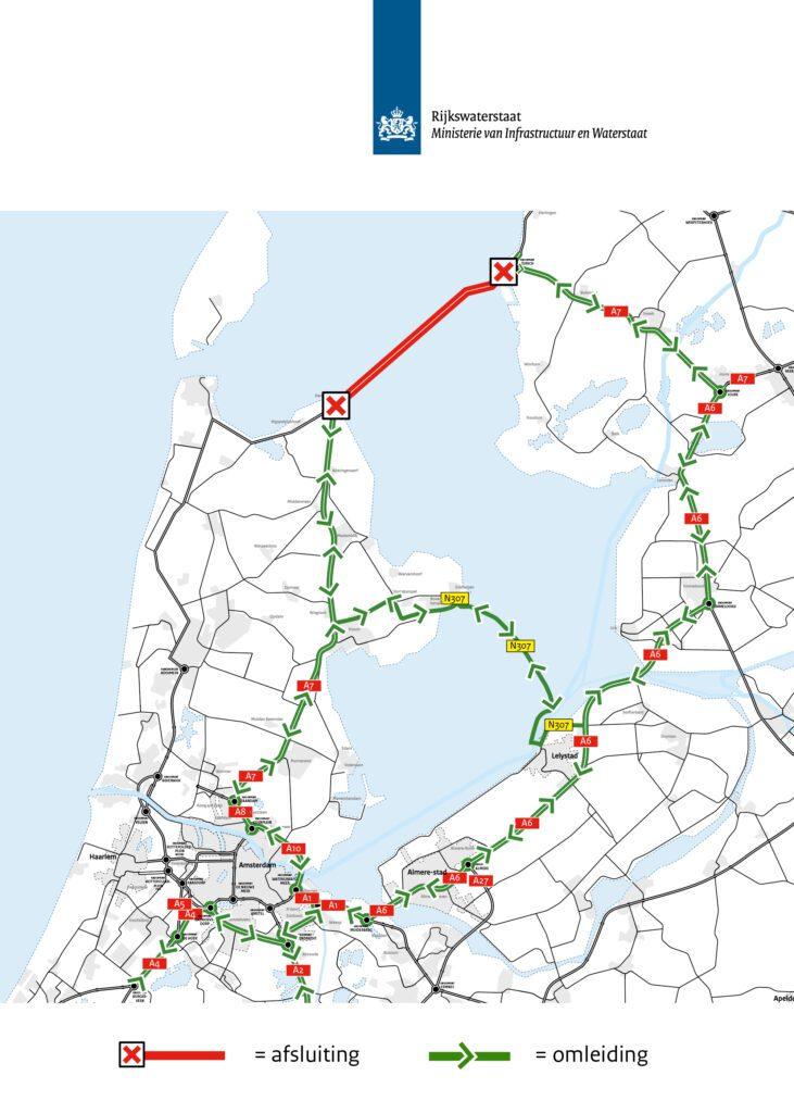 omleidingsroute-wegverkeer